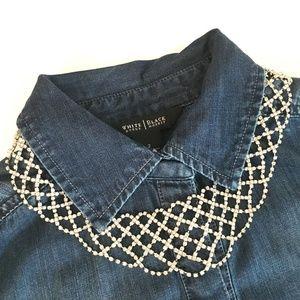 Rhinestone Bling Necklace | Collar NWT